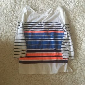 J.Crew striped boatneck T-shirt in cotton